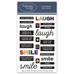 Laugh And Smile, Technique Tuesday Clear Stamps - 811784027882