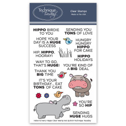 Helen & Harry The Hippos - Animal House June 2019, Technique Tuesday Clear Stamps - 811784027929