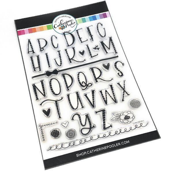 Funky Alphabet, Catherine Pooler Clear Stamps - 8.19447E+113