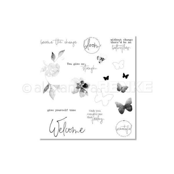 Welcome Butterflies, Alexandra Renke Clear Stamps - 4251412724558