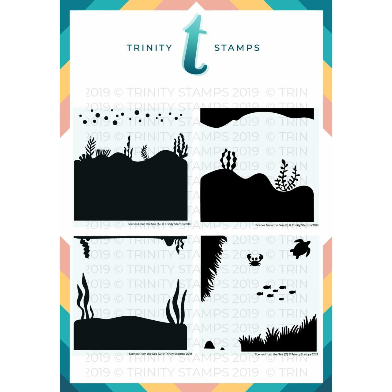 Scenes from the Sea, Trinity Stamps Stencils -