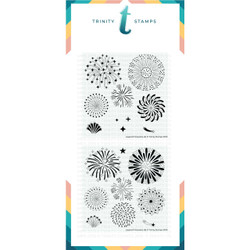 Layered Fireworks, Trinity Stamps Stencils -