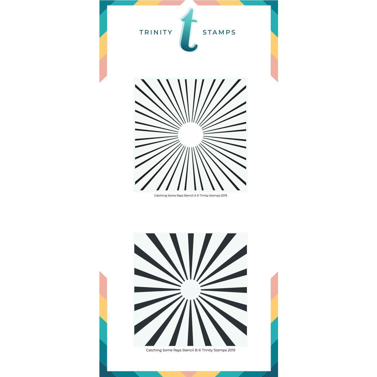 Catching Some Rays, Trinity Stamps Stencils -