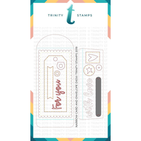 Narrow Card and Bookmark with Envelope, Trinity Stamps Dies -