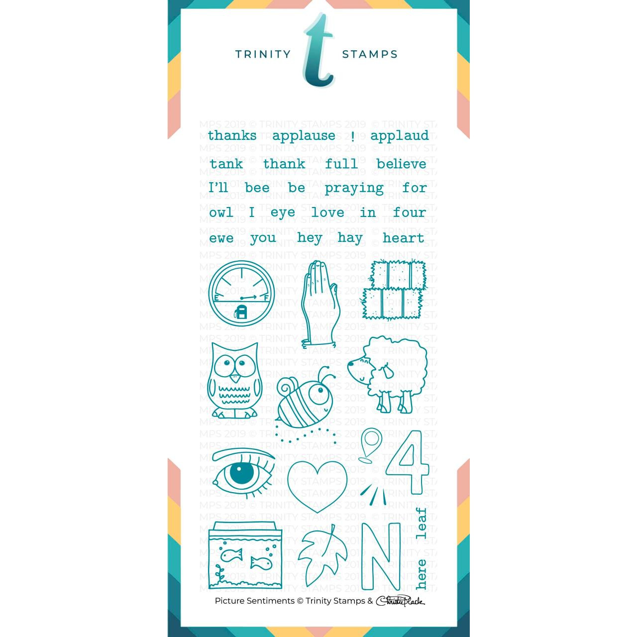 Picture Sentiments, Trinity Stamps Clear Stamps -