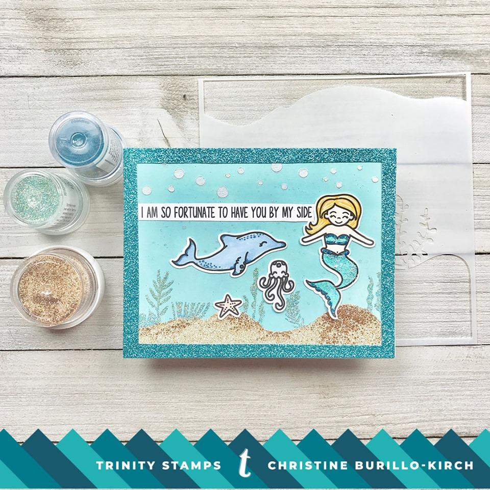 Mermaid Wishes, Trinity Stamps Clear Stamps -