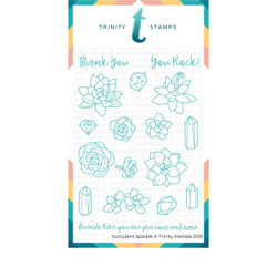 Succulent Sparkle, Trinity Stamps Clear Stamps -