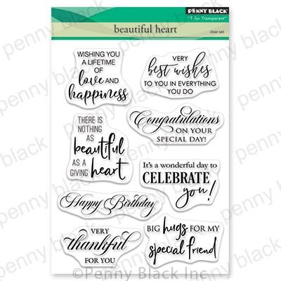 Beautiful Heart, Penny Black Clear Stamps - 759668305506