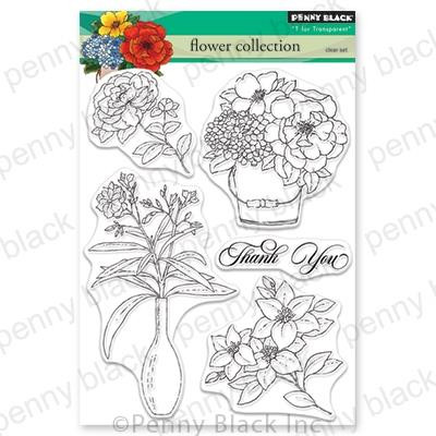 Flower Collection, Penny Black Clear Stamps - 759668305759