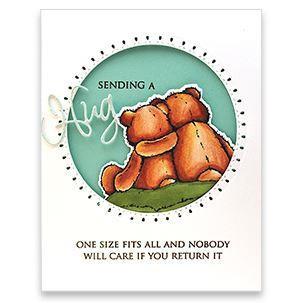 Bear Cuddle Cut Out, Penny Black Dies - 759668515455