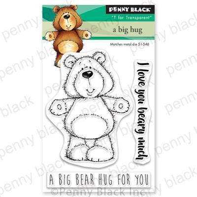 A Big Hug, Penny Black Clear Stamps - 759668305803