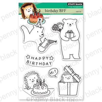 Birthday BFF, Penny Black Clear Stamps - 759668305872