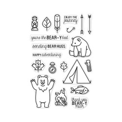 Camp In The Wild, Hero Arts Clear Stamps - 857009232006