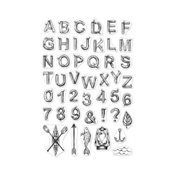 Log Letters and Numbers, Hero Arts Clear Stamps - 857009232174