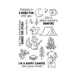 S'mores Bonfire, Hero Arts Clear Stamps - 857009233096
