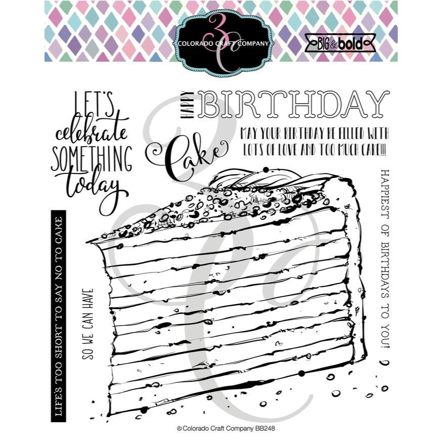 Birthday Cake, Colorado Craft Company Clear Stamps - 857287008508