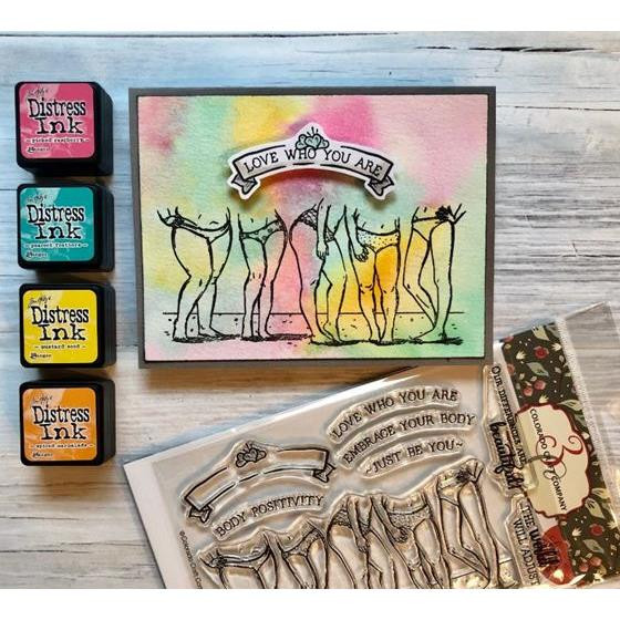 Body Positivity, Colorado Craft Company Clear Stamps - 857287008515