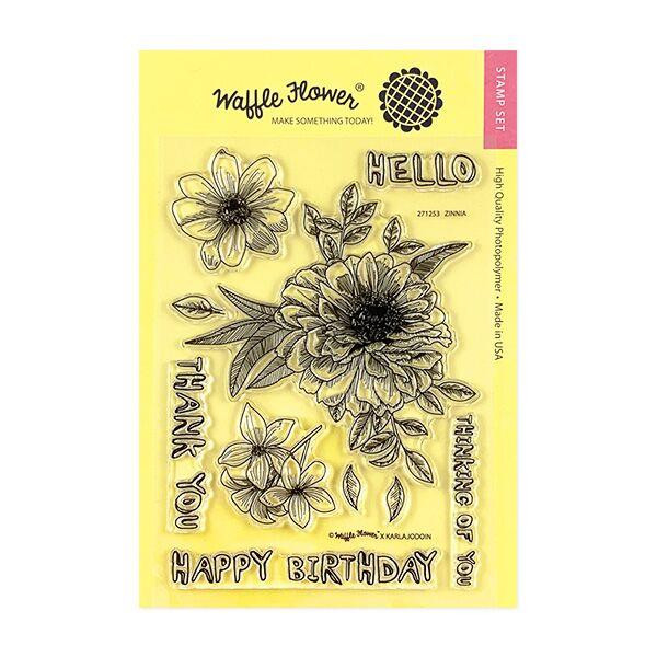 Zinnia, Waffle Flower Clear Stamps - 644216556120