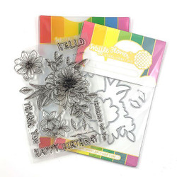 Zinnia, Waffle Flower Stamp & Die Combo - 644216558926