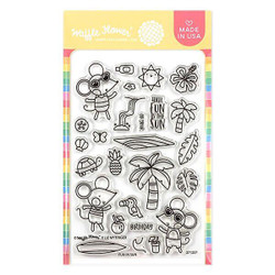 Fun In Sun, Waffle Flower Clear Stamps - 644216556526