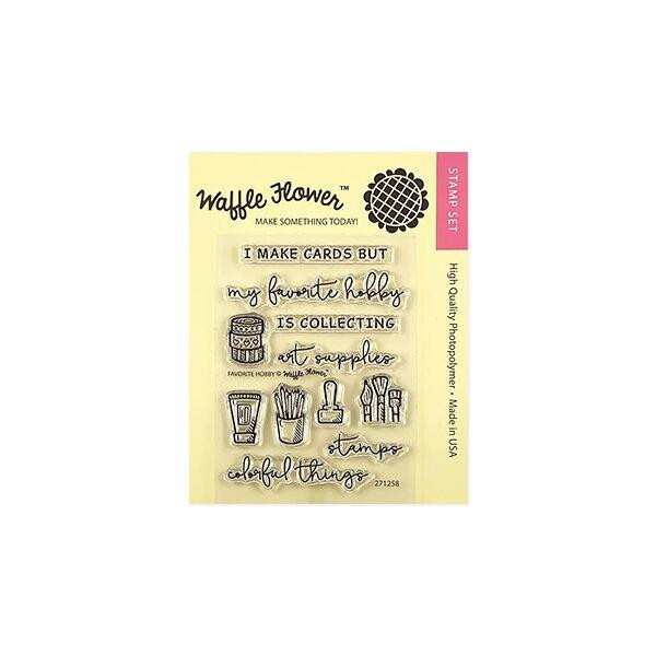 Favorite Hobby, Waffle Flower Clear Stamps - 644216556625