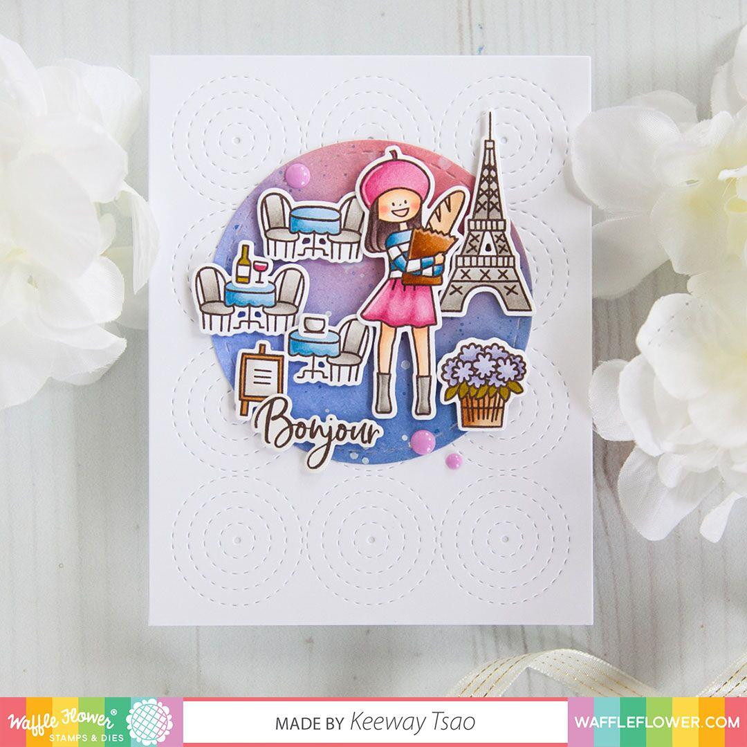 Bonjour, Waffle Flower Stamp & Die Combo - 644216559121