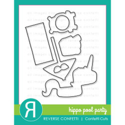 Hippo Pool Party, Reverse Confetti Cuts -
