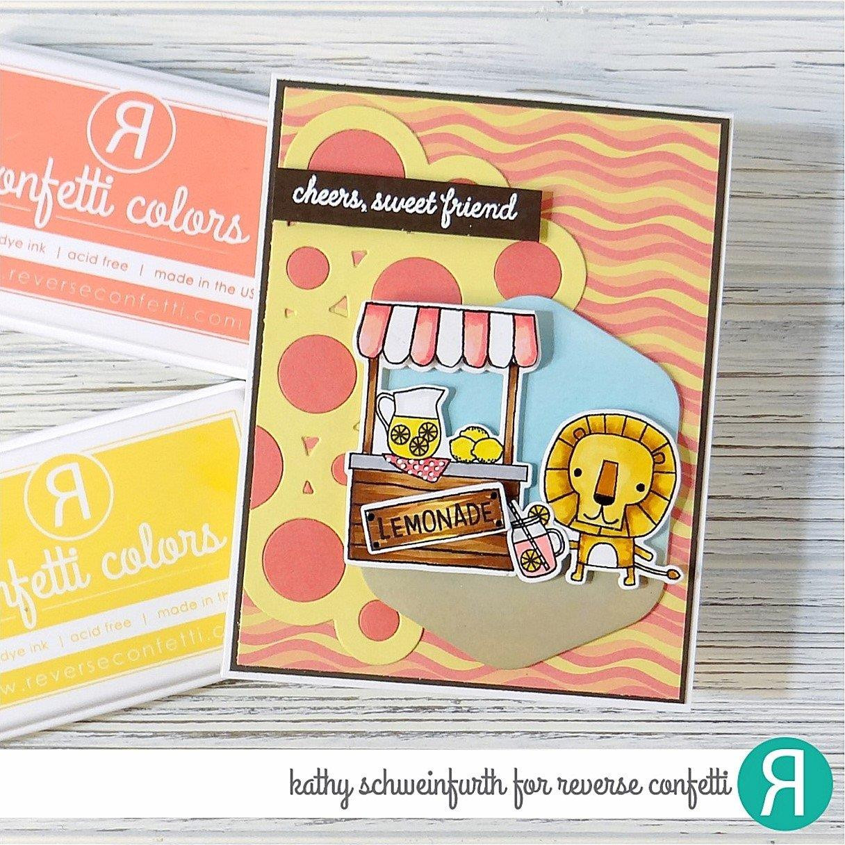 Lemonade Stand, Reverse Confetti Clear Stamps -