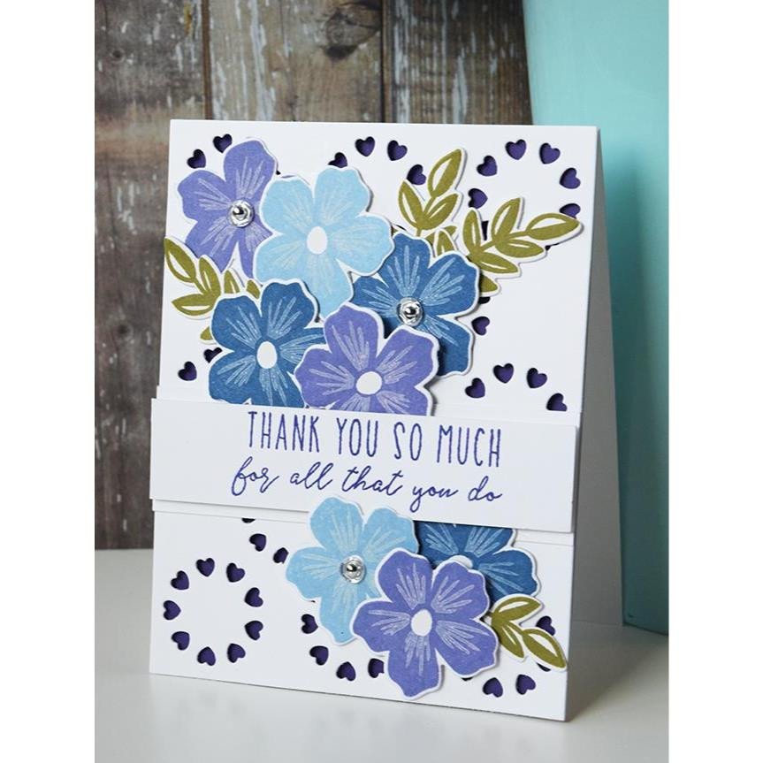 Bold Blooms, Reverse Confetti Clear Stamps -