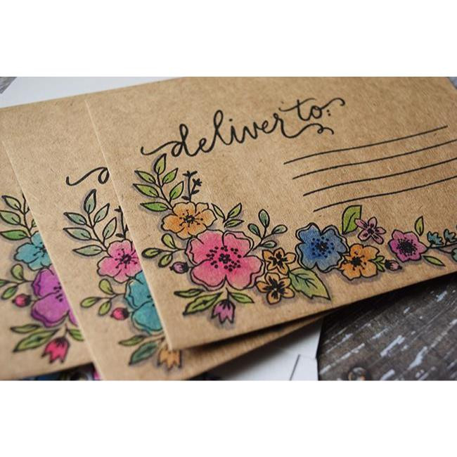 Happy Mail, Reverse Confetti Clear Stamps -