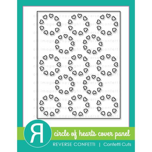 Circle of Hearts Cover Panel, Reverse Confetti Cuts -