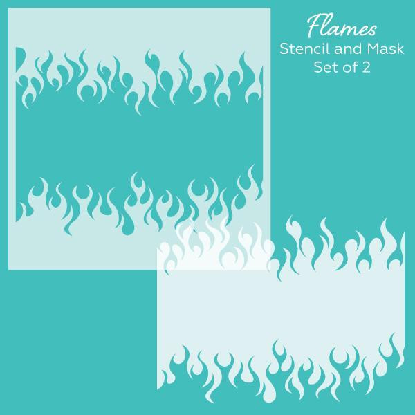 Flames, Honey Bee Stencil & Mask Set -