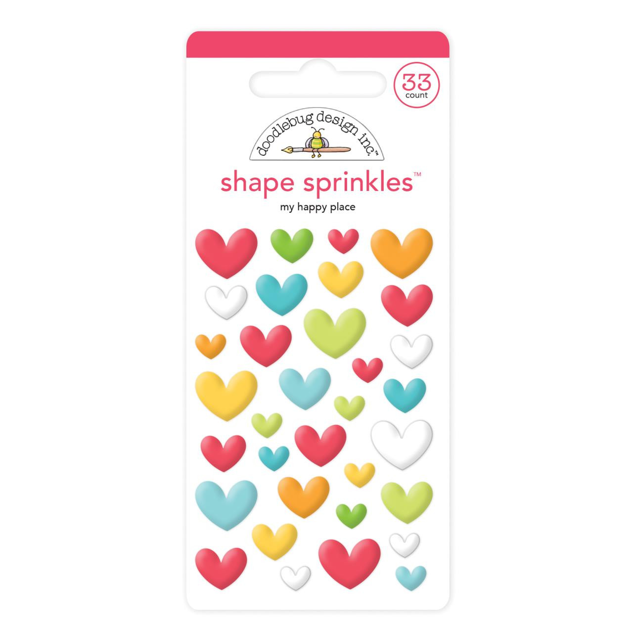 My Happy Place Shape, Doodlebug Sprinkles - 842715063525
