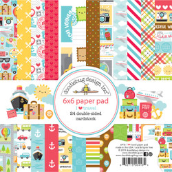 I Love Travel, Doodlebug 6 X 6 Paper Pad - 842715064164