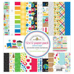 School Days, Doodlebug 12 X 12 Paper Pack - 842715064201