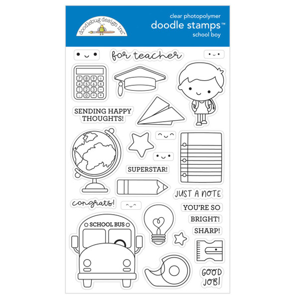 School Boy, Doodlebug Clear Stamps - 842715063846
