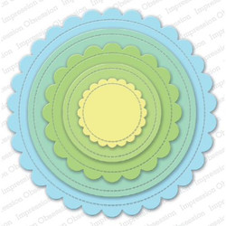 Scalloped Stitched Circles, Impression Obsession Dies -
