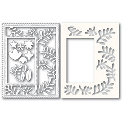 Fun Floral Sidekick Frame and Stencil, Poppystamps Dies - 873980922200