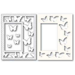 Beautiful Butterflies Sidekick Frame and Stencil, Poppystamps Dies - 873980922217