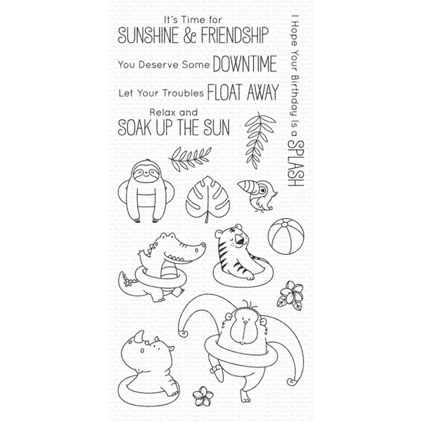Sunshine And Friendship by Birdie Brown, My Favorite Things Clear Stamps - 849923031315