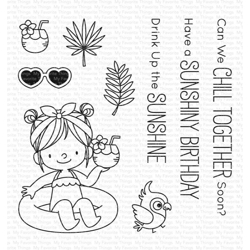 Drink Up the Sunshine by Birdie Brown, My Favorite Things Clear Stamps - 849923031322