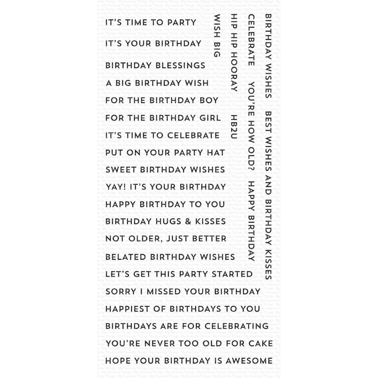 Bitty Birthday Wishes, My Favorite Things Clear Stamps - 849923031360