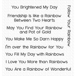 Rainbow Greetings, My Favorite Things Clear Stamps - 849923013557