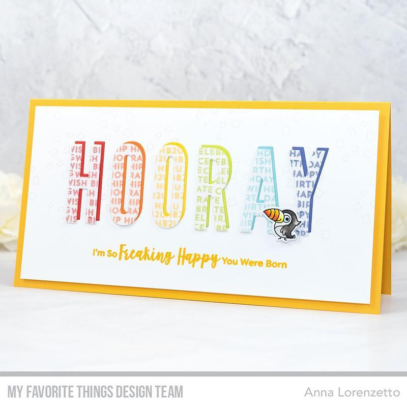 Sassy Pants Birthday Greetings 2, My Favorite Things Clear Stamps - 849923031353