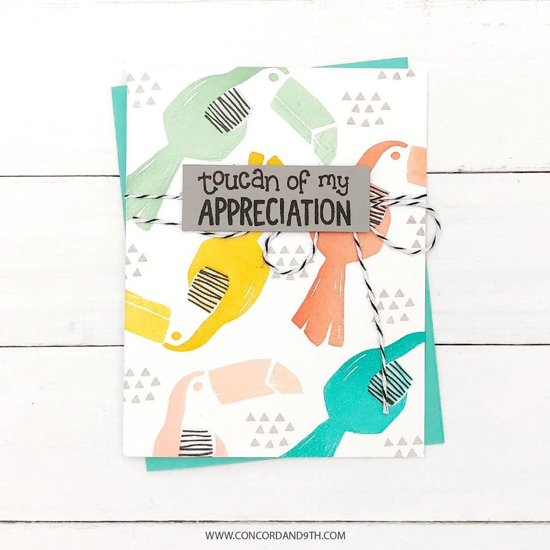 Toucan Paradise, Concord & 9th Clear Stamps - 902224005598