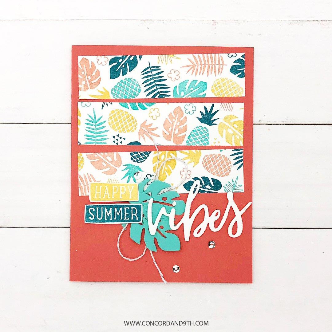 Tropical Vibes Turnabout, Concord & 9th Clear Stamps - 902224005734