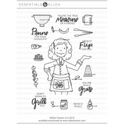 Leading Ladies - Cooking Lady By Brandi Kincaid, Essentials By Ellen Clear Stamps -