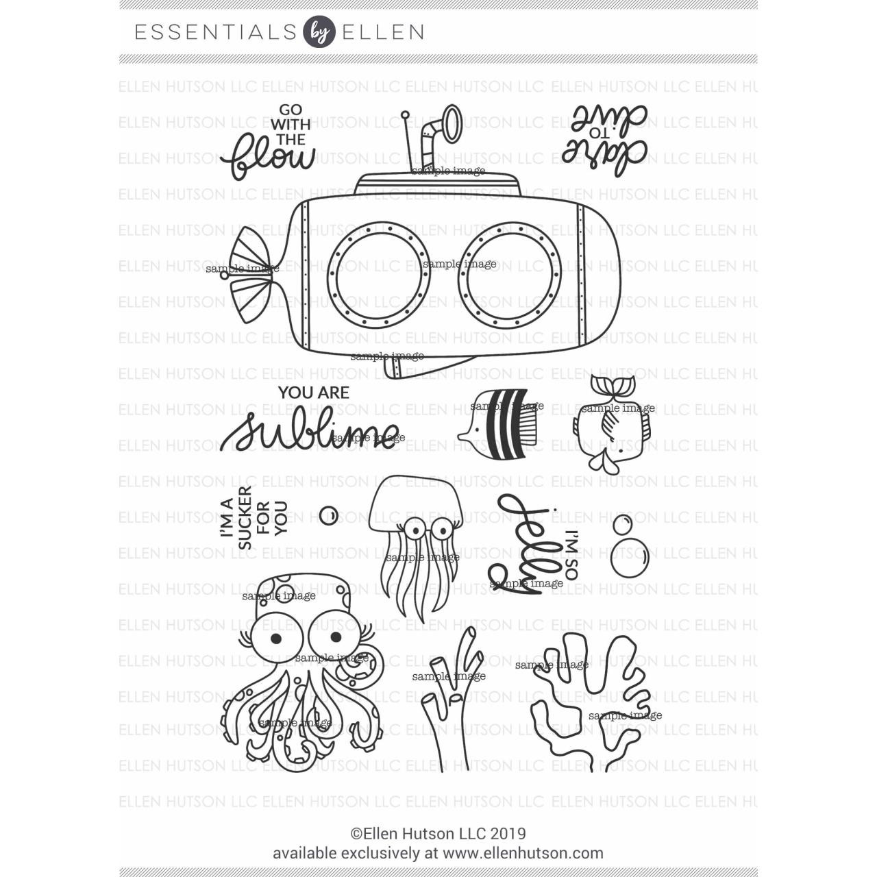 Subbing In By Brandi Kincaid, Essentials By Ellen Clear Stamps -