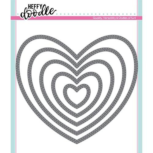 Stitched Hearts, Heffy Doodle Dies - 5060540221742