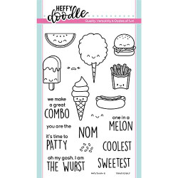 Treat Yo'Self, Heffy Doodle Clear Stamps - 5060540221452